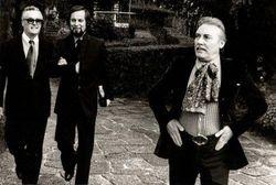 Marcello e Mario Del Monaco con un amico